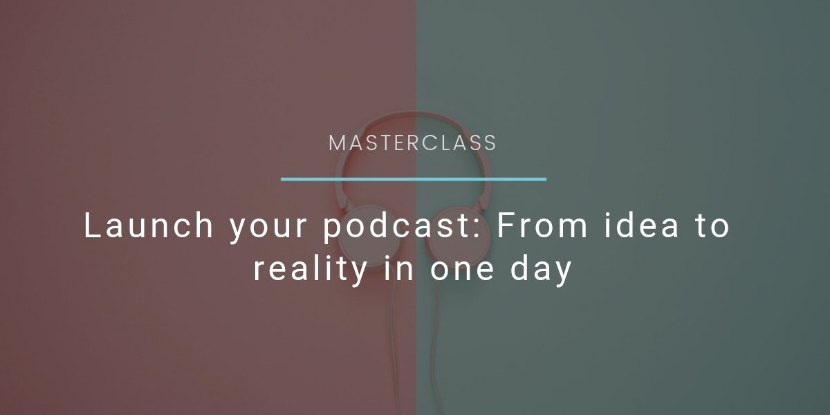 Launch your podcast Webseite Event header