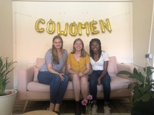 Following my career intuition brought me here, interning at CoWomen!
